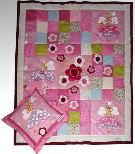 Quilt patchwork kinderdecke lilifee 1